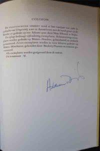 Vraatzuchtige handtekening