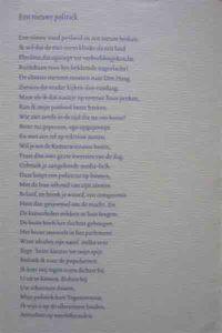 Een nieuwe politiek - gedicht